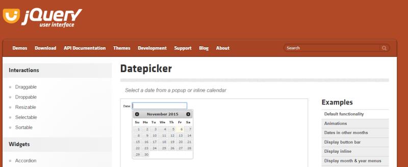 Datepicker   jQuery UI